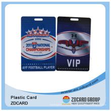 Eventos de Conferência de PVC Duro ou Cartão de Tag Suspenso do Expositor