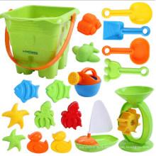 Ensemble de jouet de plage de sable d'enfants d'enfants colorés en plastique d'OEM