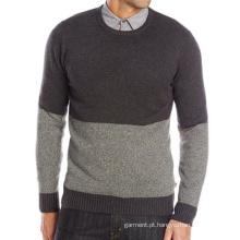 Homens Diaz Color-Block Middle-Aged People Crew Sweater