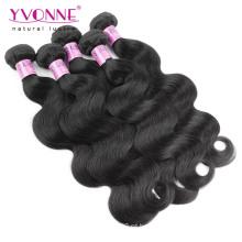 Preço barato de Guangzhou cabelo indiano de Remy do Virgin de 100% cabelo humano