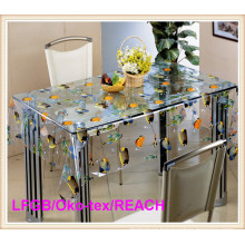 PVC Printed Transparent Tablecloth /Clear Table Cloth