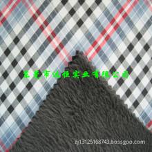 plaid fabric bond flannel fabric for garment