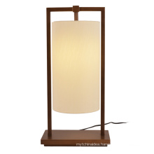 Home Decor Modern Luxury Bedside Fabric Shade Metal Table Lamps For Bedroom