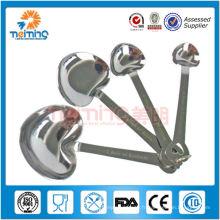 4pcs cuillères de mesure en acier inoxydable en forme de coeur / cuillères de mesure / pelles de pesée