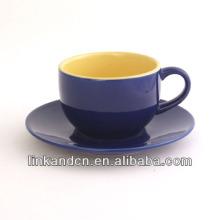 Taza de café de KC-03003high calidad con el platillo, taza de té simple, vida hermosa