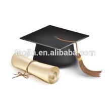 Diseño simple elegante y generosa y pequeña borla del casquillo de la graduación