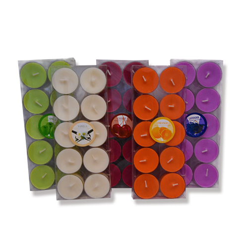 Colored Tealight Candles in Aluminum Candles