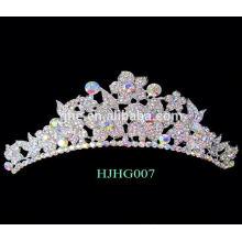 Présidentielle couronnes tiaras rouge cristal mariage couronne tiare fleur couronne royale couronne anneau