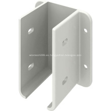 Soporte de montaje de panel de valla de metal blanco con recubrimiento de polvo