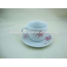 Tazas de café y platillos, porcelana taza de café al por mayor y platillo, tazas de té y platillos personalizados