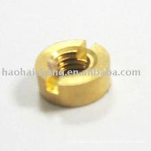 Brass Round Slotted Nut