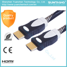 Nylon Braid Support 3D Ethernet 1.4V HDMI Cable