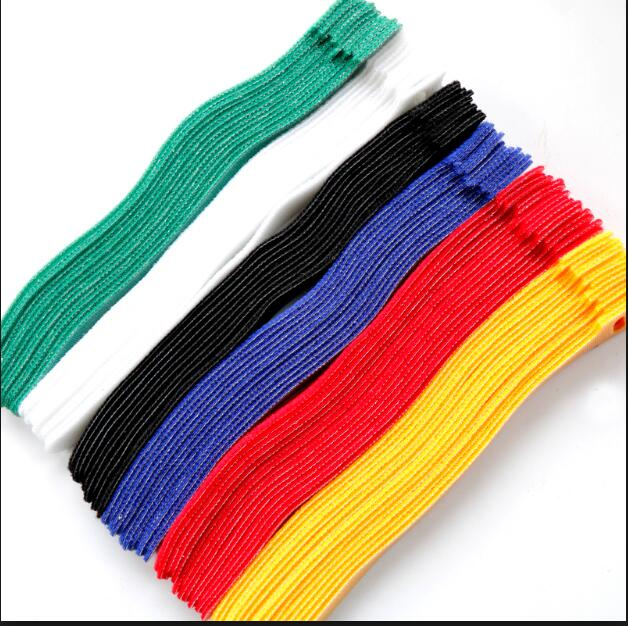 Colorful hook and loop Cable tie