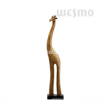 Polyresin Giraffe Tabletop Skulptur (WTS0006A)