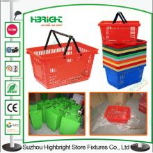 Plástico de supermercado tienda de conveniencia de cesta cesta de la compra