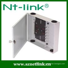 Caja de fibra óptica de montaje en pared de 12 núcleos