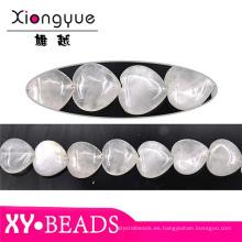 Fábrica detalle corazón Opal encanto pulsera de perlas de 20x20mm