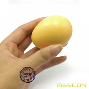Bescon Wooden Eggs - 6 pieces Easter DIY Eggs - Children Play Kitchen Game Food Toy Faux Egg 3 Colors