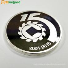 Moneda a prueba de metal personalizada con logotipo en relieve