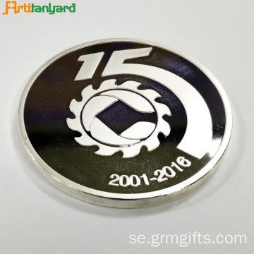 Custom Metal Proof Coin med präglad logo