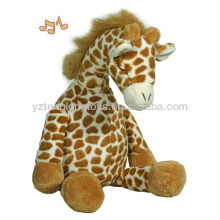 Cute Electronic Baby Sleep Musical Giraffe Plush Toy