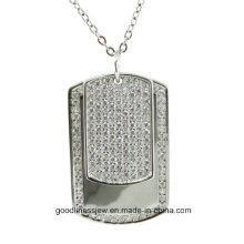 Diseño fresco y la moda de la mujer de plata esterlina colgantes hombres y mujeres collar P5066