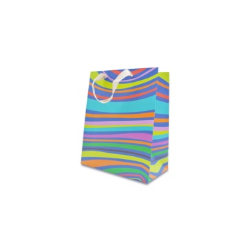Color shopping paper packaging bag