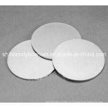 99,95% de disco redondo de molibdênio polido puro