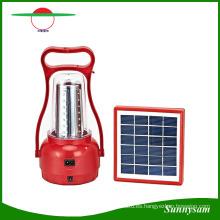 Lámpara solar al aire libre ajustable de la mano del brillo / lámpara solar portátil de la emergencia de 35 LED que acampa recargable