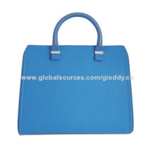 2014 Summer Blue Color, Genuine Leather Ladies' Business Tote Bag, Big Size