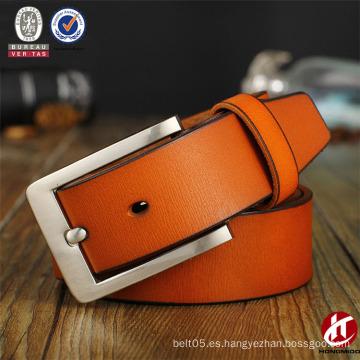 Alloy Nickle Pin Bukle Cinturón de cuero clásico HZ Full Grain Cinturón de cuero de los hombres