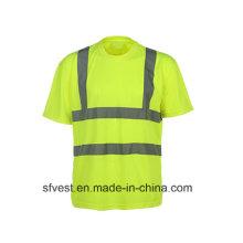 3m Fita reflexiva Alta visibilidade Segurança Polo Vestuário de segurança com En ISO