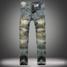 High Quality Popular Men's Pants Vintage Torn Jeans