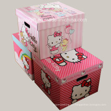 Impresión personalizada de cajas de almacenamiento corrugado con agujero