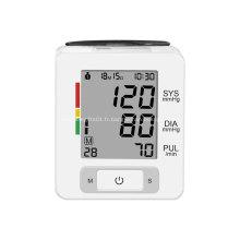 Mesure de la pression artérielle au poignet BP portable