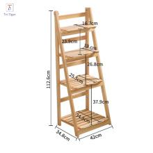 Wood ladder flower pot balcony frame flower plant folding flower shelf