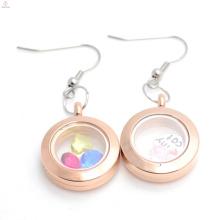 forma de coração openable vidro magnético flutuante medalhão pingente com charme jóias