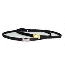 Goden Buckle Simple Style Narrow PU Belt (KY3504)