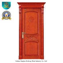 Puerta de madera sólida del estilo chino para el interior con Roma (ds-8035)