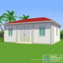 Casas modulares con techo estructural de acero ligero