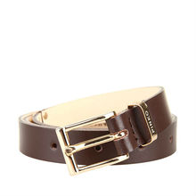 Newest Fashionary design PU Belt With Golden buckle And Metal Chain In The Middle