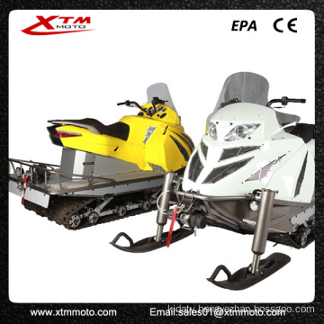Snow Mobile Rubber Track Gas Adult Snow Ski Scooter