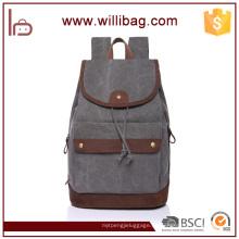 Bolsos de alta calidad de la mochila de la lona del lazo para la mochila para hombre