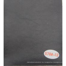 De90 agrietado estampado de cuero de PVC con forro de relleno