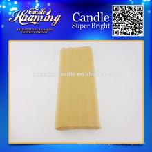 Bougies blanches, Bougies de cire de paraffine, Paquet de papier artisanal