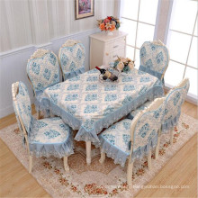 2018 European American fashion trendy luxury dinning flower print lace chair tablecloths table cover