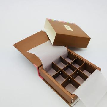 Caja de regalo de papel de chocolate Kraft