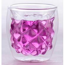 doppelwandige Glastasse