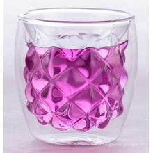 copo de vidro de parede dupla