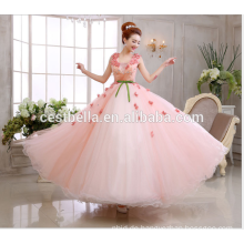 Alibaba China-Herstellung Damen-Spitze-Kleid-Qualitätsrosas Spitze-Hochzeitskleid 2017 Braut-süßes Hochzeitskleid